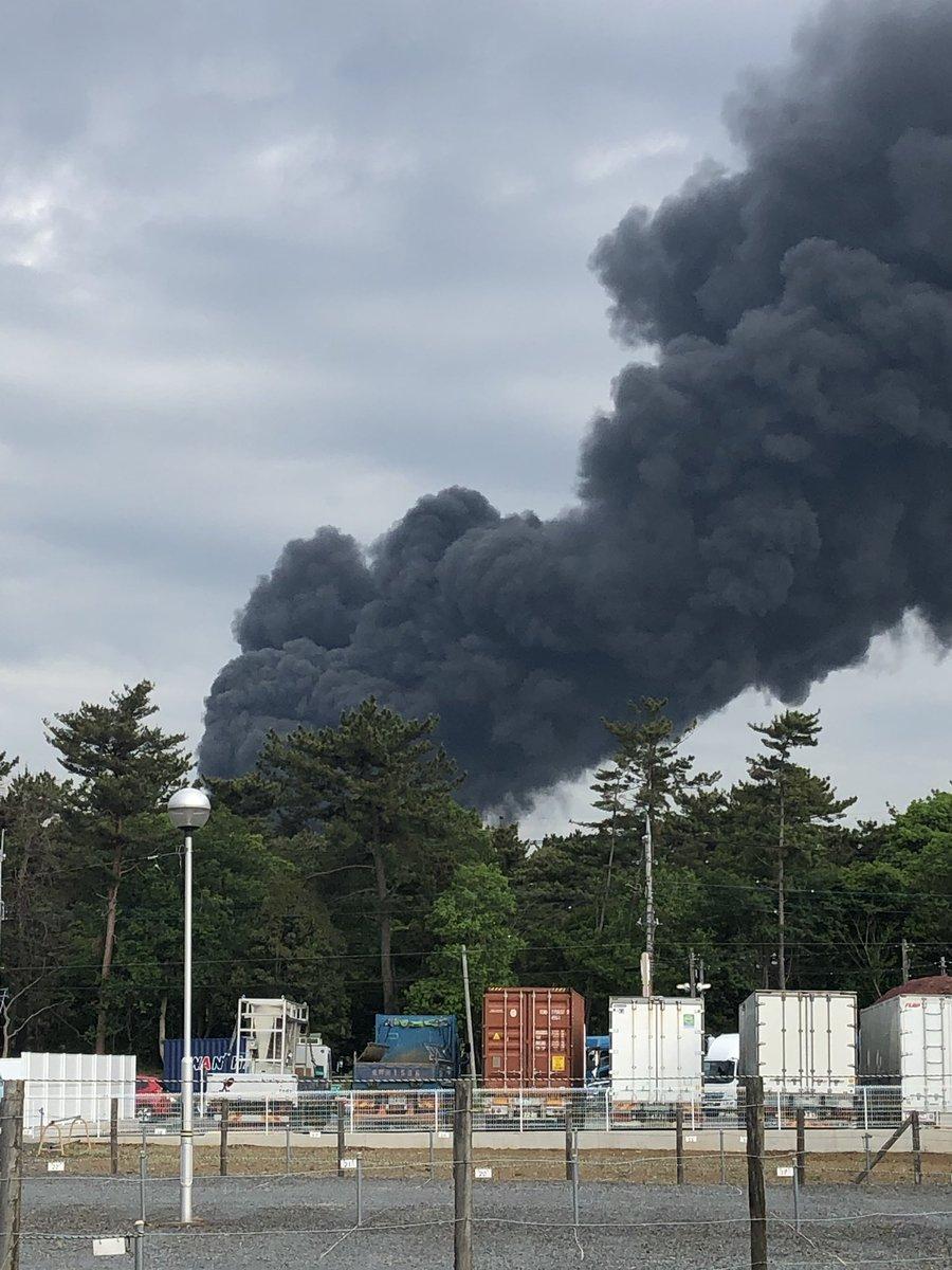 【火事画像】茨城県常総市坂手町 廃材置き場の金属くず燃える ...