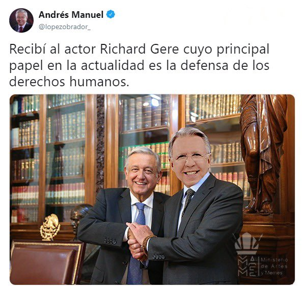 #RichardGere o #LopezDoriga  #AndresManuel