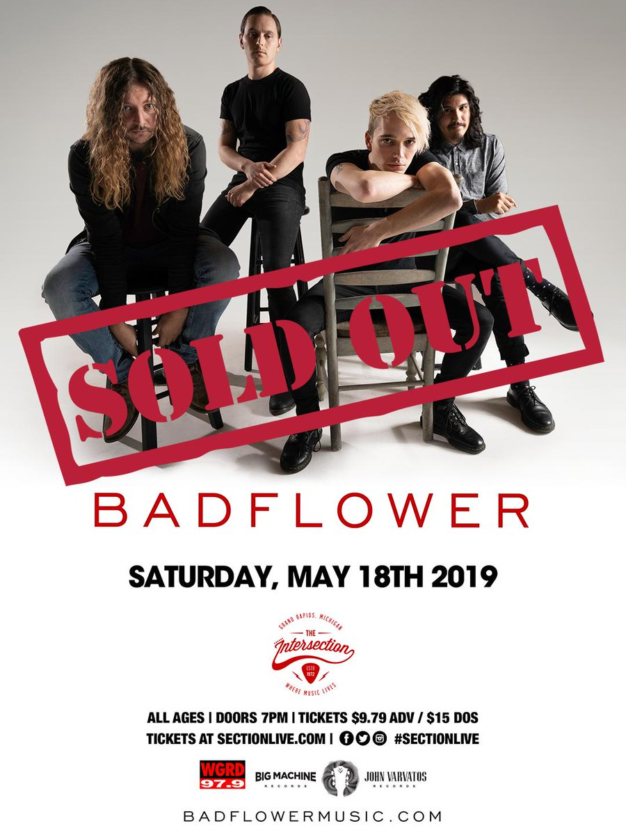 Thank you Grand Rapids! @WGRD present  @Badflower with special guest @fencerband at The Intersection is SOLD OUT!