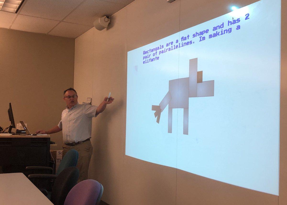 #caltpa rolls into edtech integration at primary grades. @jcorippo showing Cindy's Rhombus lesson. #WeAreCUE @cueinc