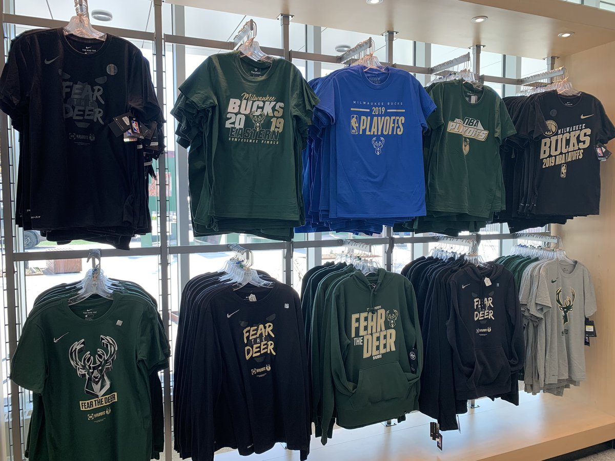 ee78020d0f61 Shop ECF and  NBAPlayoffs merch in-store and online  http   shop.bucks.com collections 2019-nba-playoffs  …pic.twitter.com BGCOgk13WB