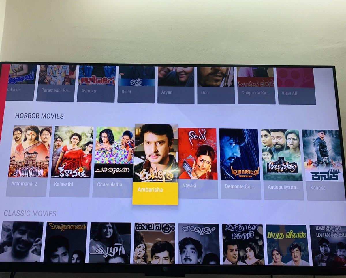 Hi @sunnxt how come #Ambareesha nd #kanaka movie comes under