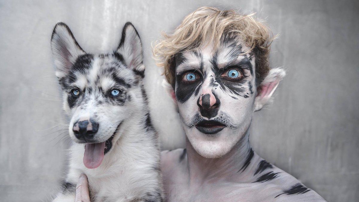 new vlog transforming myself into my dog 🐶 go watch youtu.be/4eFcwDnnGag