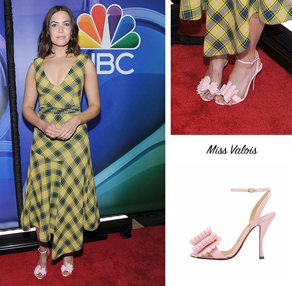 sports shoes 235de 3261d Mandy Moore in Christian Louboutin Miss Valois at the NBC ...