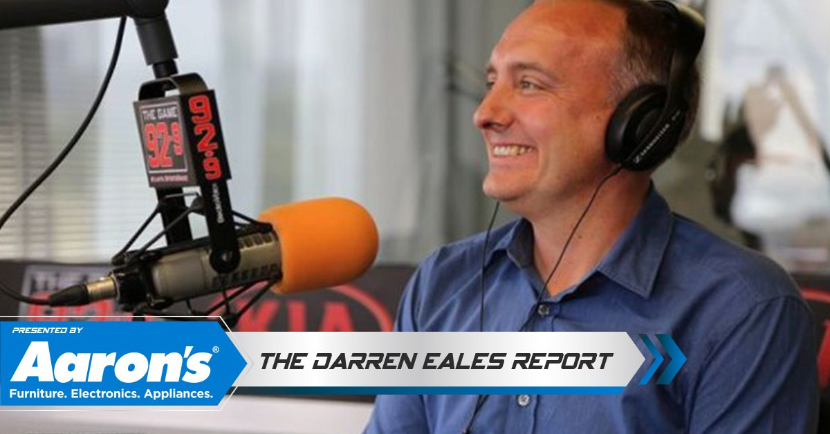 """Tune in today at 3:20pm for the """"Darren Eales Report"""" presented by Aaron's on 92.9 The Game. Dukes & Bell chat live with the President of the Five Stripes every Tuesday during the MLS season! Liven Live: https://bit.ly/2PmkTXS 📻 #AD #soccer #futbol #Aarons #Atlanta @AaronsInc"""
