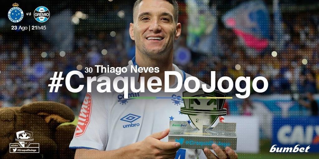 Meu bicampeão, o @Cruzeiro teve um #CraqueDoJogo em 2017:  🏆 @thneves10