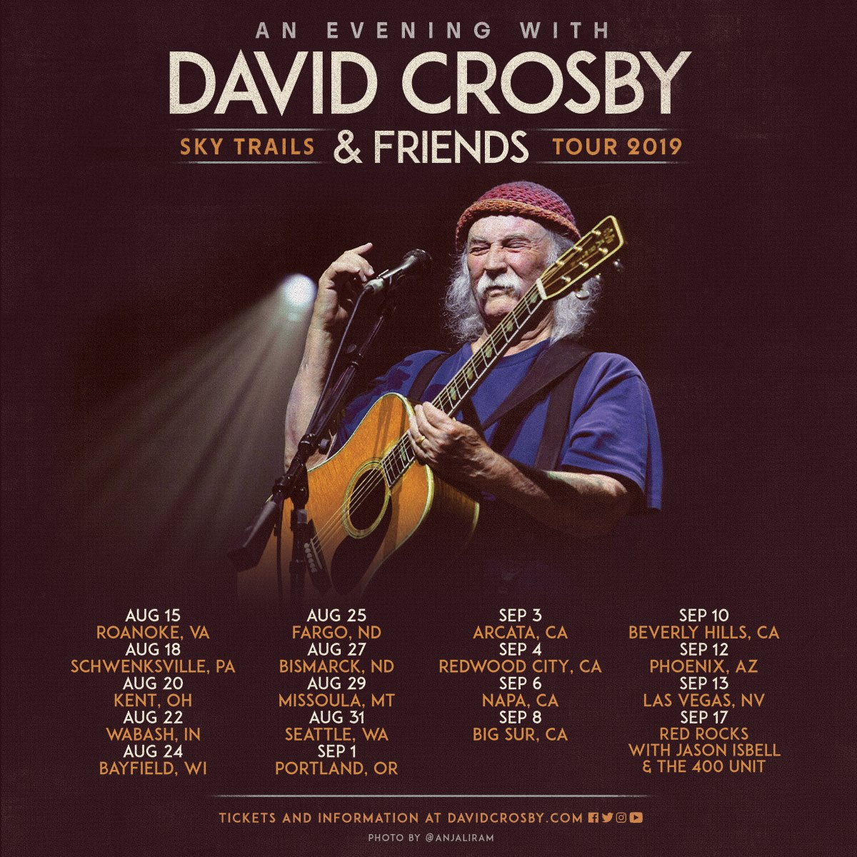 4f4328a228995 Tickets on sale starting Friday at https   davidcrosby.com pages tour   jamjora  maileisz Steve DiStanislao  jeffpevar  boutwillismusicpic.twitter.com   ...