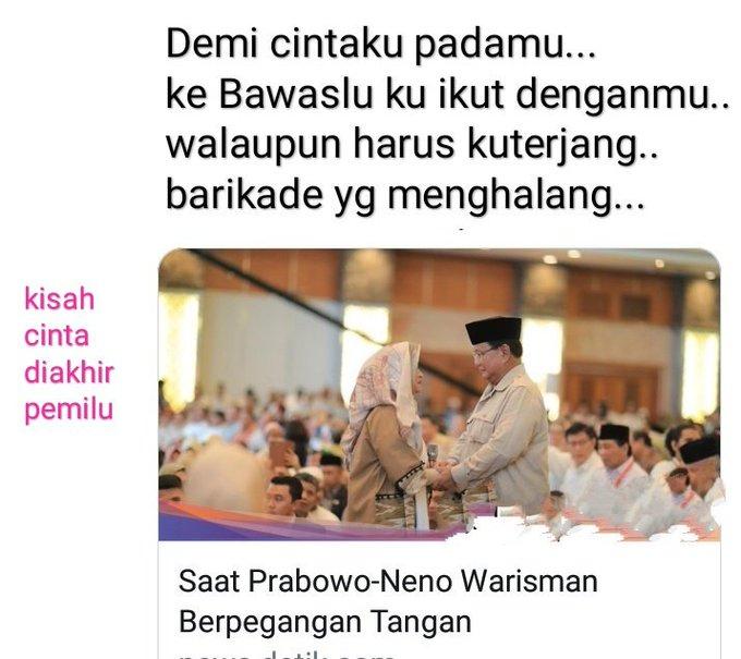 Dialog Imajiner Ala Netizen Di Momen Hangat Prabowo Dan