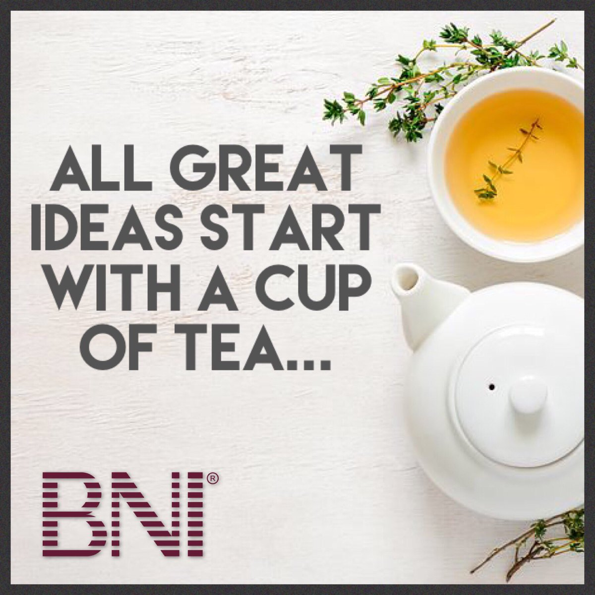 Big news is coming and we cannot wait to share! We have another exciting project on the horizon...the countdown has now officially begun!  Will you be joining us? OpportuniTEA awaits! #Bni  #giversgain  #bnifamily  #colab  #colaboration  #business  #bignews  #opportuniTEA