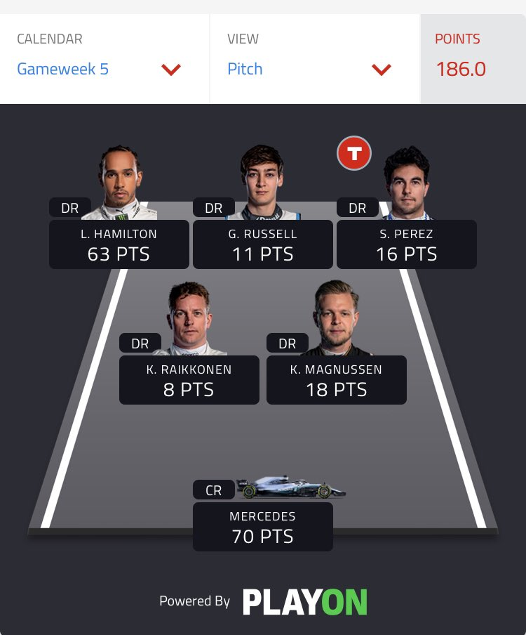 @F1 186! Up to 11k overall!! https://t.co/RUz0ey9z7J