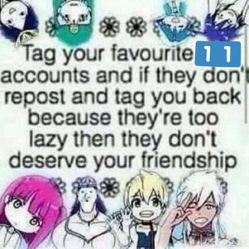 So i decided to do it these are people i like talking to and or admire   @JaazaniasO  @RedPgx  @Bessalius  @misty79182580 @KhrisDragzard @UrichWilliams @Zerogenesis86 @Frazz164Farrell if there's anyone I've talked to and are not on the list it's because we haven't talked enough