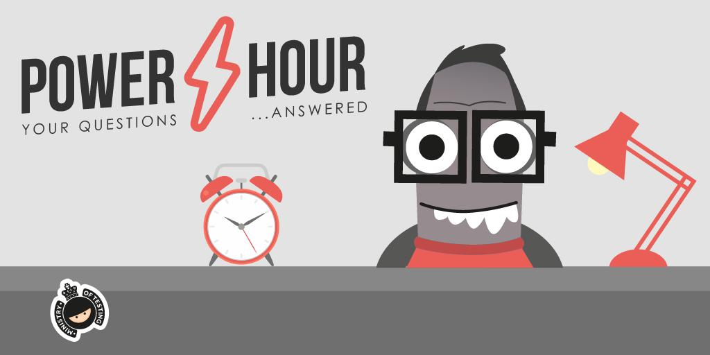The Power Hour is happening tomorrow, get your questions on anything related to Browser Developer Tools and @eviltester or @11vlr will respond!  https://buff.ly/30ceDoa #SoftwareTesting #DevOps #Testing #MoTPowerHour