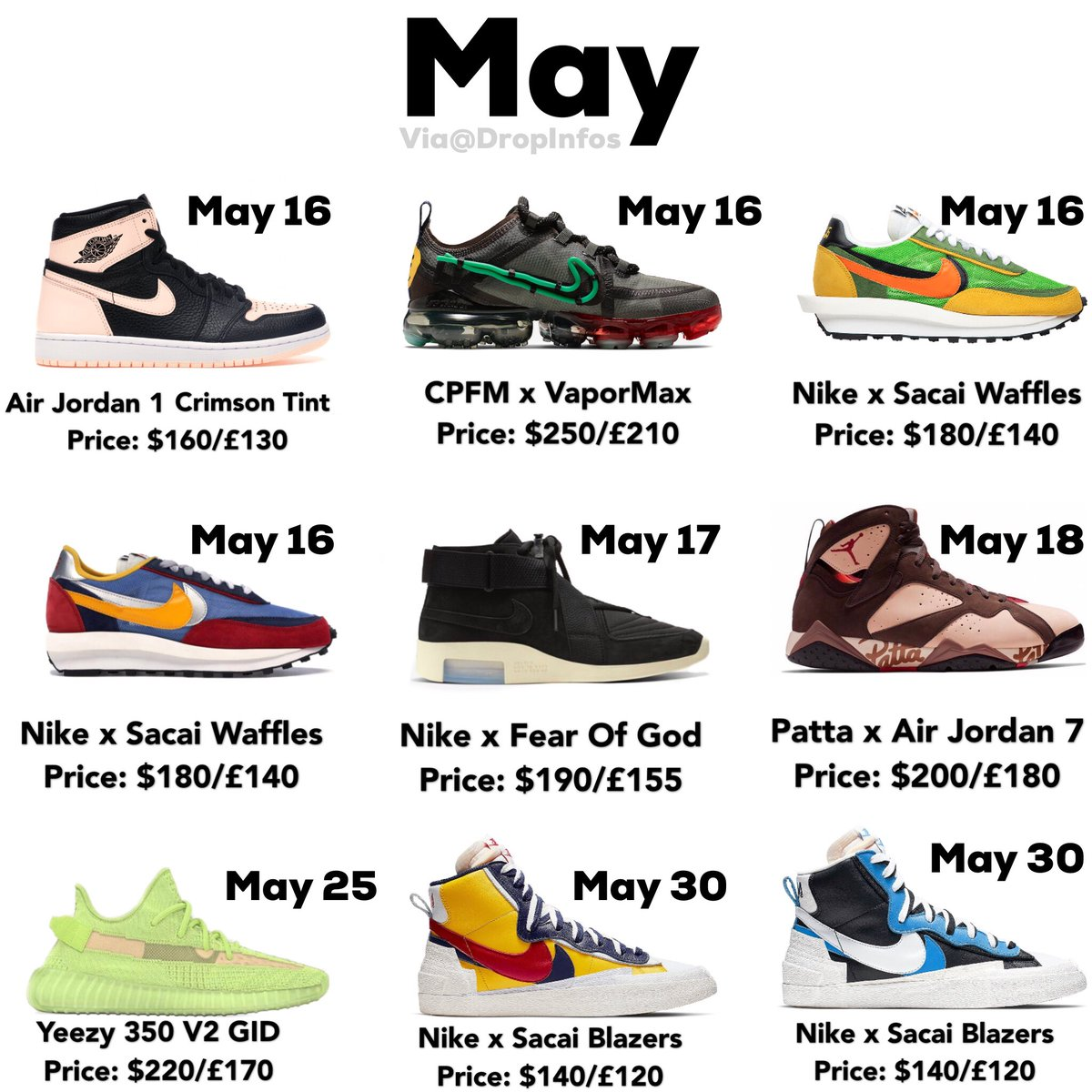 May release lineup. I will have site