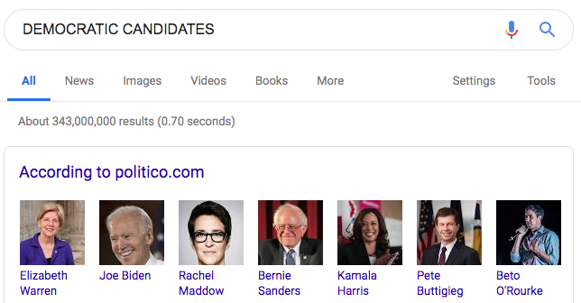 There are so many candidates that I literally didn't even know @maddow was running.