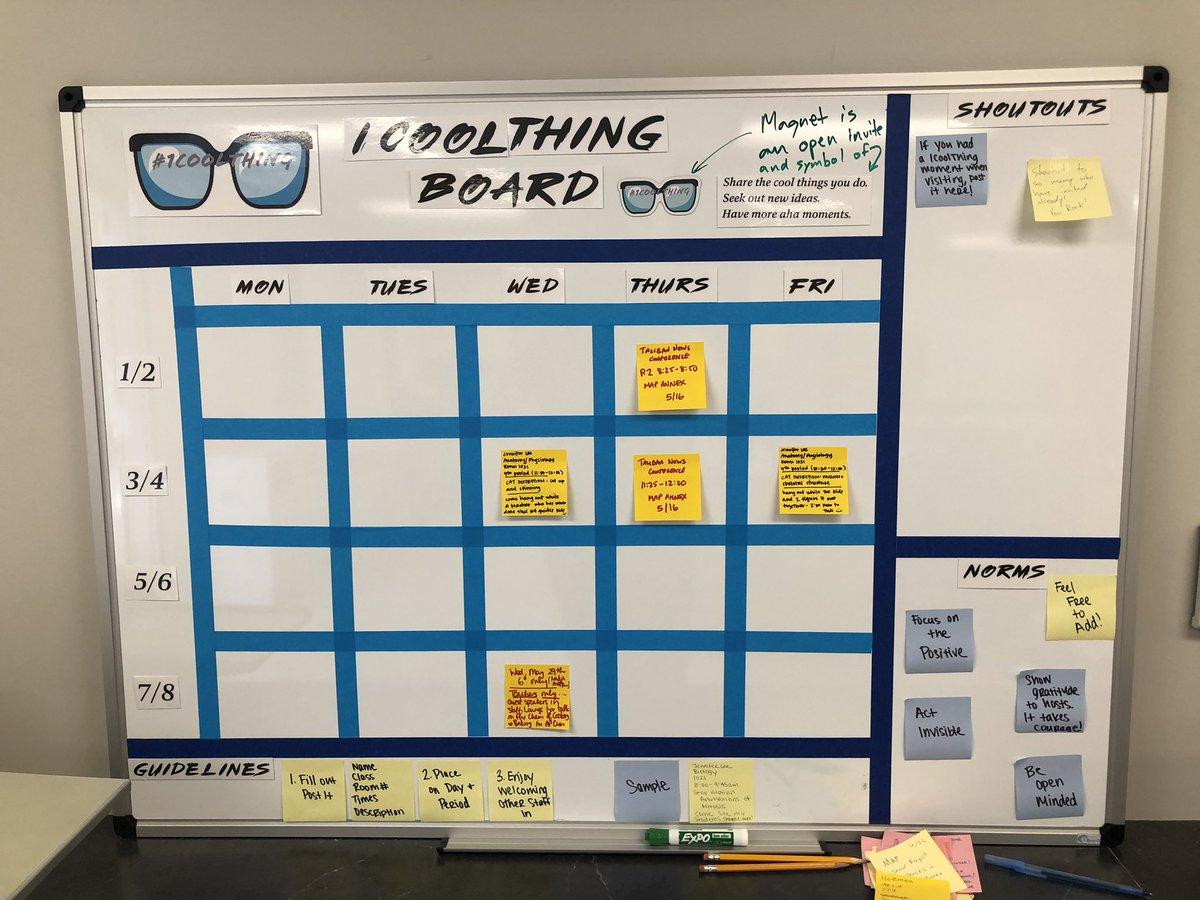 Taliban News Conference, Cat Dissections, and guest speaker on the the chemistry of cooking. All things teachers can observe from colleagues. Invites via #1CoolThing Board. #gofalconpower #lgsuhsd<br>http://pic.twitter.com/1bWZ572WS7 &ndash; à Saratoga High School