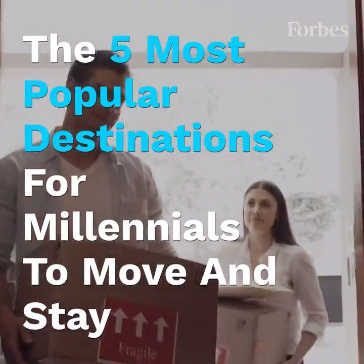 The 5 most popular destinations for Millennials to move and stay: https://www.forbes.com/sites/brendarichardson/2019/05/03/the-top-five-most-popular-destinations-for-millennials-to-move-and-stay/?utm_source=twitter_video&utm_medium=social&utm_campaign=forbes…