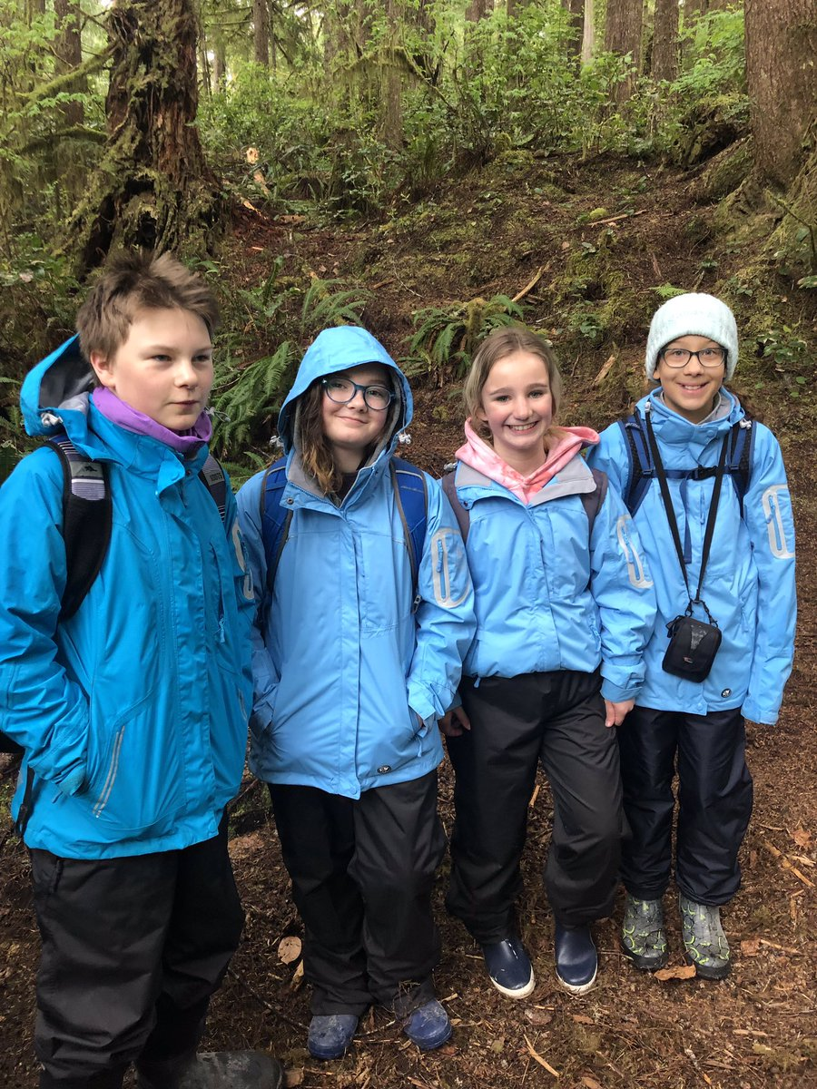 Not letting the rain stop us from our awesome adventure. Bamfield day two!