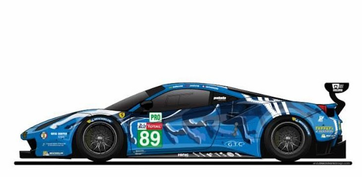 .@risicomp to race @24hoursoflemans in blue 'art car livery @andyblackmore @FerrariRaces @PipoDerani @ollyjarvis @JulesGounon http://www.dailysportscar.com/2019/05/14/risi-in-blue-for-le-mans.html…