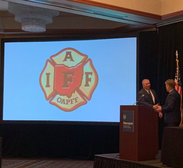 Appreciate the opportunity to speak to the Ohio Association of Professional Firefighters at their conference in Columbus today. https://t.co/EwALWfr6XU