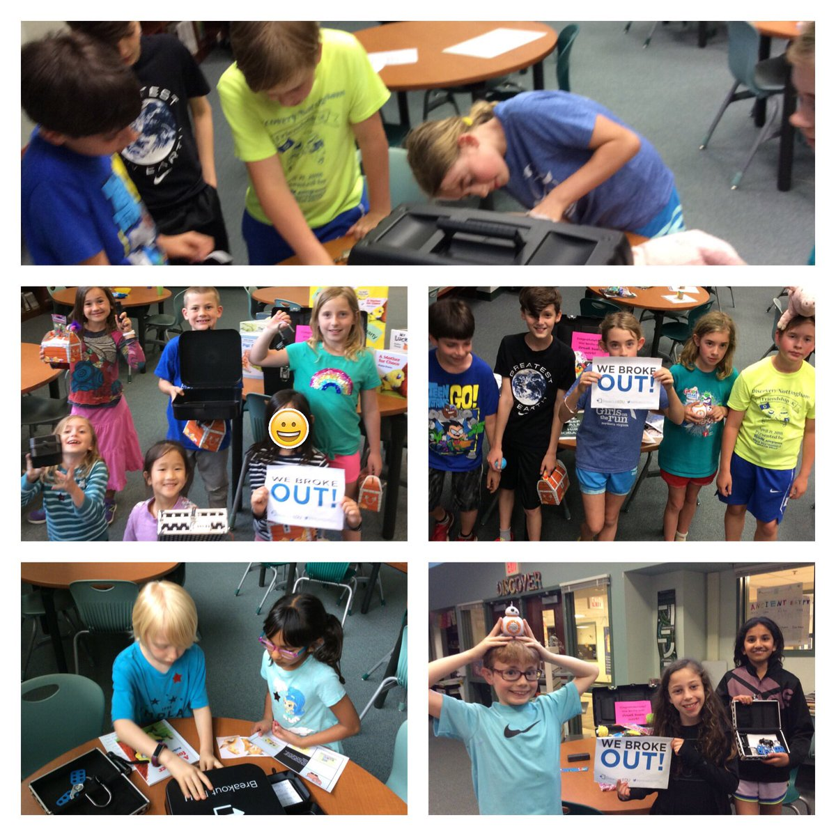 We had SO much fun with our auction winners doing <a target='_blank' href='http://twitter.com/breakoutEDU'>@breakoutEDU</a> in the library. What impressive detectives we have. <a target='_blank' href='http://search.twitter.com/search?q=KnightsRock'><a target='_blank' href='https://twitter.com/hashtag/KnightsRock?src=hash'>#KnightsRock</a></a> Thank you, families, for supporting <a target='_blank' href='http://twitter.com/NottinghamPTA'>@NottinghamPTA</a>!  We appreciate you.  <a target='_blank' href='http://twitter.com/NTMKnightsAPS'>@NTMKnightsAPS</a> <a target='_blank' href='http://twitter.com/APSLibrarians'>@APSLibrarians</a> 🔍🔐 <a target='_blank' href='https://t.co/QVlRJTXJT1'>https://t.co/QVlRJTXJT1</a>