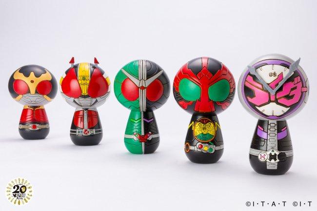 平成仮面ライダー20作品記念 群馬県の伝統工芸「創作こけし」& 限定ZIPPOライターセットの登場です。  @PRTIMES_JP
