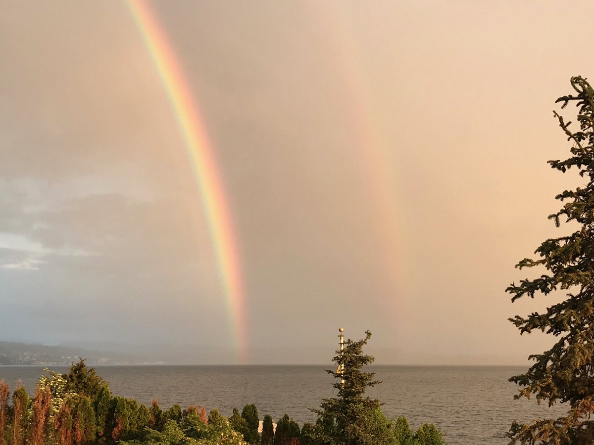 Wow! Double rainbow in the Pacific Northwest.