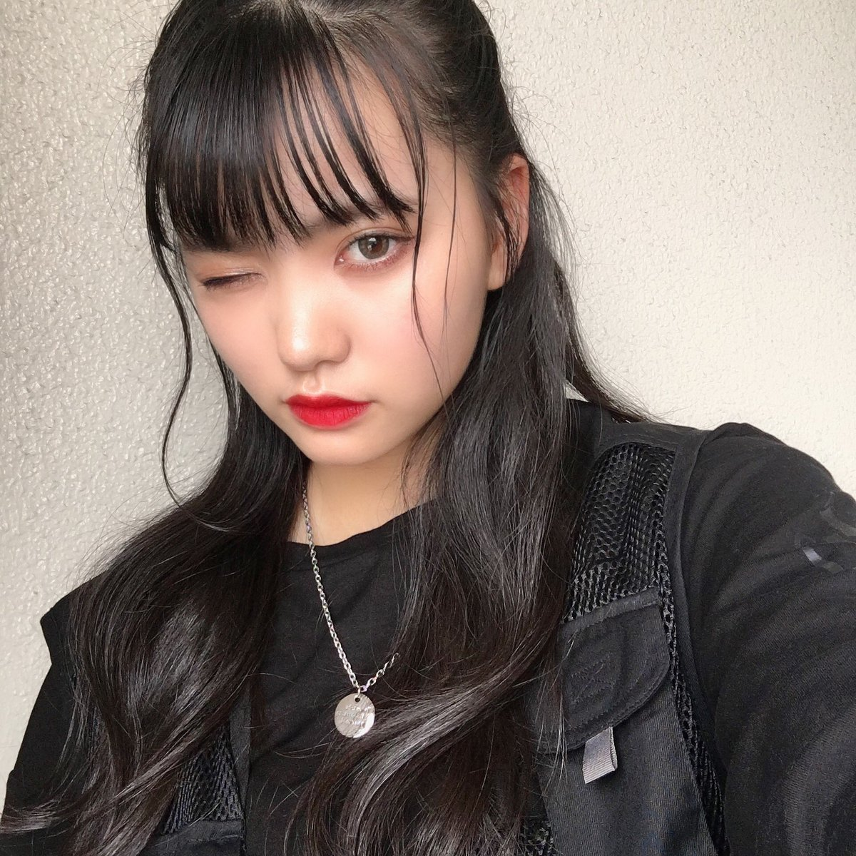 """筒井結愛 (ゆあてぃー⛓🖤 ar Twitter: """"おはよ☺︎ みんなポニテってゆってるけどハーフアップだよて🖤 ・ ハマりそうな予感…。 # ゆあてぃー… """""""