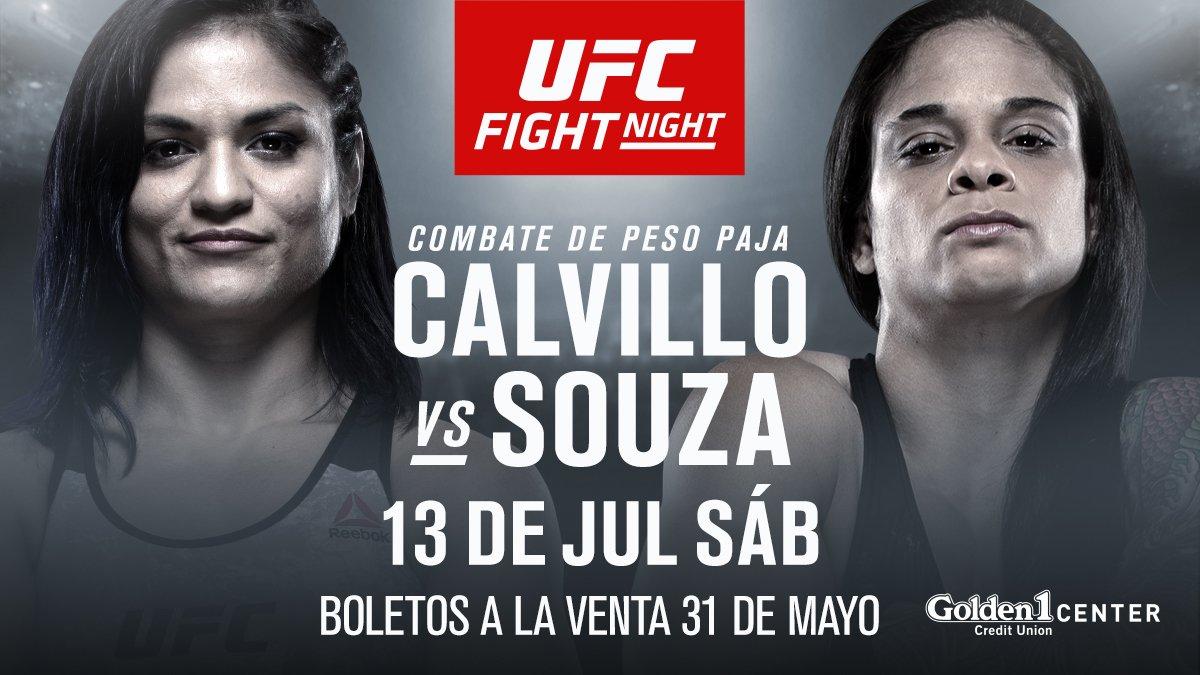 BOOM! Mire quiénes se enfrentan en #UFCSacramanto  @cyn_calvillo vs @livinhaufc   5 PELEAS MÁS ANUNCIADAS ➡️ http://bit.ly/2YqOXTd