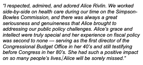 Paul Ryan's photo on Alice Rivlin