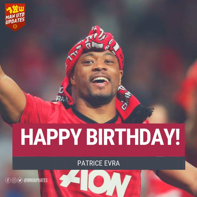 Happy 38th Birthday to ex red Patrice Evra.