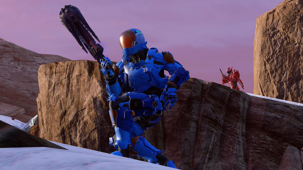 Well be checking out Halo 5s Big Team Battle Refresh with @msarchet on tomorrows 343 Social Stream! Find us in-game to earn your Ice Unicorn skin and nameplate. Tune in and try to match us starting at 1:30pm PT on @WatchMixer! mixer.com/Halo