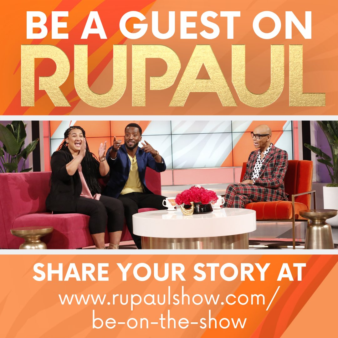 Want to sit down with @RuPaul? Share your story at rupaulshow.com for your chance to be a guest on the show!