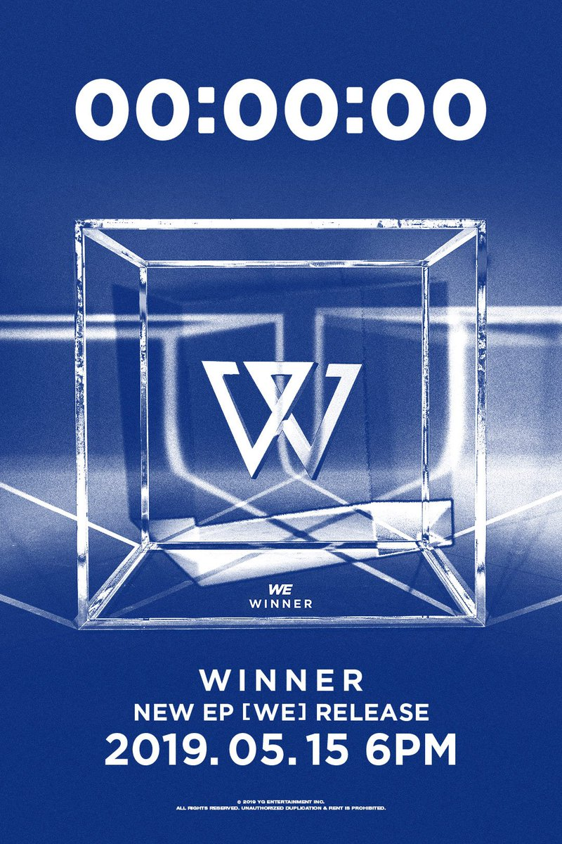 #WINNER '#WE' RELEASE COUNTER Originally posted by http://yg-life.com  🎶 'AH YEAH (아예)' : 2019.05.15 6PM (KST)  #위너 #NEW_EP #AHYEAH #아예 #WE_or_never #YG