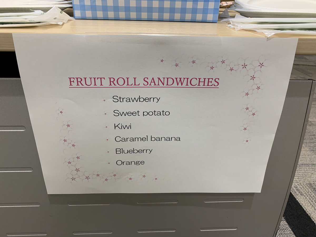 9b4f5273b A sign with the text  Fruit Roll Sandwiches  strawberry
