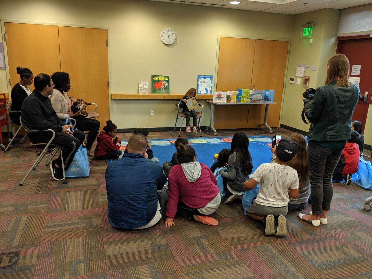 Love having a student reader for Story Time @SolanoLibrary #FSUSD #FSUSDReads