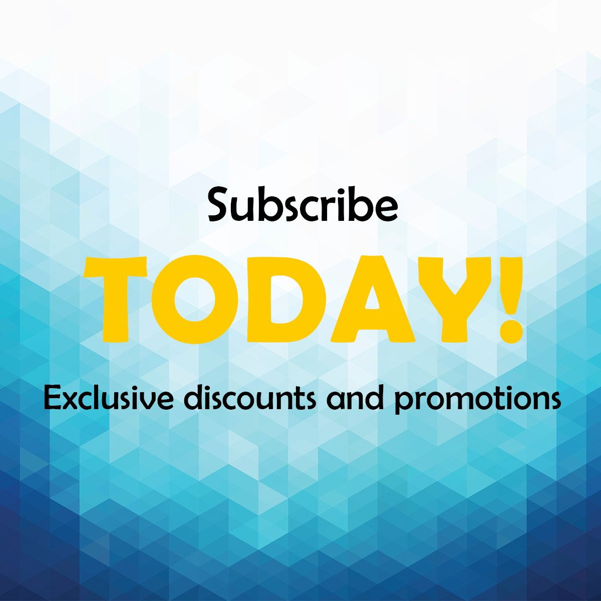 Subscribe to our mailing list to receive exclusive discounts and promotion!  Become a member today! https://t.co/RmLO3RLzWW https://t.co/s9wS6LAJtY