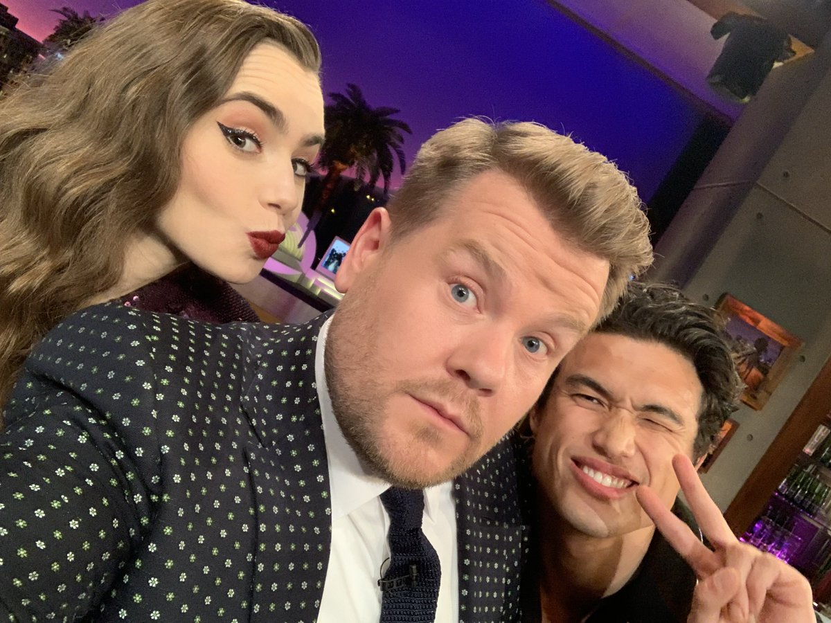 A must see #LateLateShow tonight with @lilycollins, @charlesmelton plus music and game of FLINCH with @NCTsmtown_127! It all kicks off at 12:37am on @CBS #NCT127onCorden