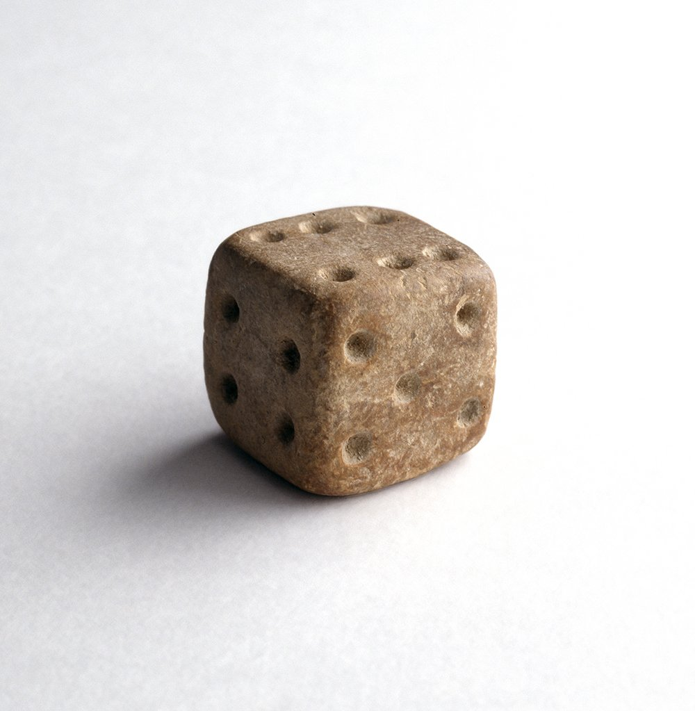 This terracotta die comes from the ancient city of Mohenjo-Daro, one of the first urban centres in human history. Gaming with dice has been a popular pastime in India for millennia, with this object dating back to 2500–1900 BC. See it in Gallery 12 #MuseumWeek #PlayMW