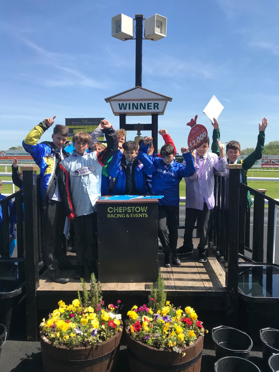Students on a numeracy and literacy trip at Chepstow  Racecourse yesterday organised by @RacingtoSchool charity.