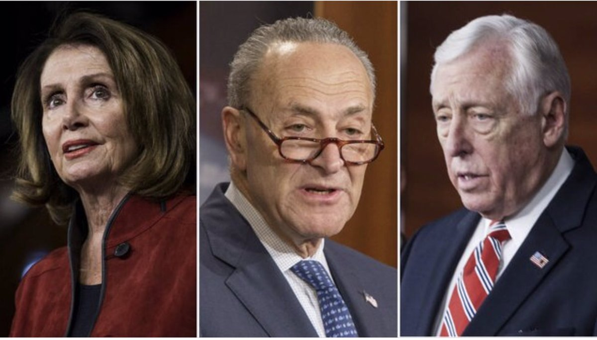 These three have spent far too long in office.  ⚖️Speaker Pelosi, Steny Hoyer and Schumer have been in office for a combined 108 years.  ⚖️The top house leadership avg. age78 yrs old and 32 years in office.   ⚖️Term limits are the only antidote to this corruption.