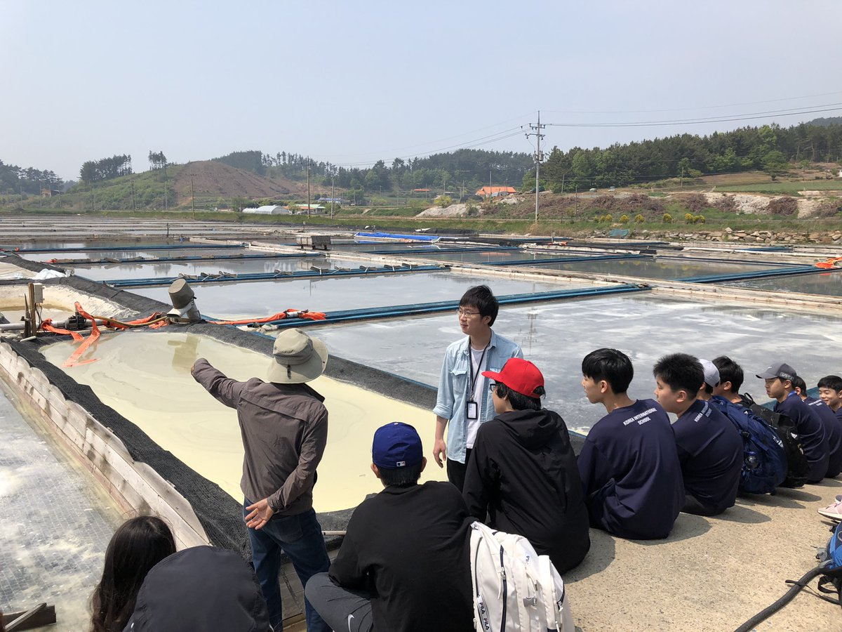 My job for the next 3 days, hiking salt farming, rice planting, building, cleaning, and beach cleaning with 80 7th graders on the west coast of Korea. #kispride