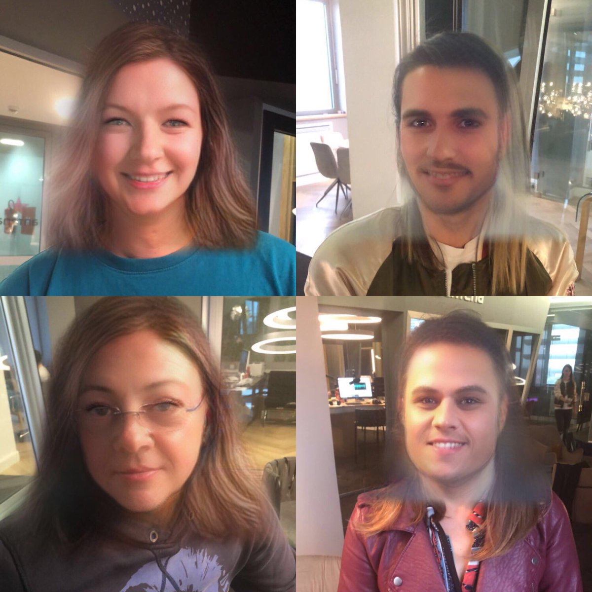 #jutarnjishow isprobao 😱 #snapchat filter 😂😂 pronađi Tamaru Loos? Tko je Saša Buneta, a tko @bojan_nema_plan ?! #antena #filter #photo