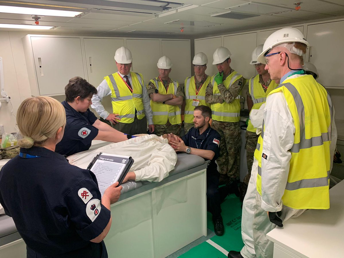 It was a pleasure to host our affiliated charities, cities and organisations during our annual Affiliate's Visit Day. We've made a lot of progress since the last time they were here including completing our medical complex #RoyalNavy