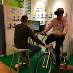 Come try the NWE @CHIPS_EUproject virtual reality bike at the @Interreg_eu stand during the #EUGreenWeek 🚲!  We're on -1 floor, in the exhibition area #mobility #bicycle