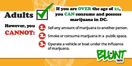 Today's #NPW2019 theme is: Preventing Illicit Drug Use & Youth Marijuana Use. Since the passage of I-71, there's been some confusion surrounding the consumption and legalization of marijuana. The Blunt Truth campaign was developed to weed out myths related to marijuana in the DC.