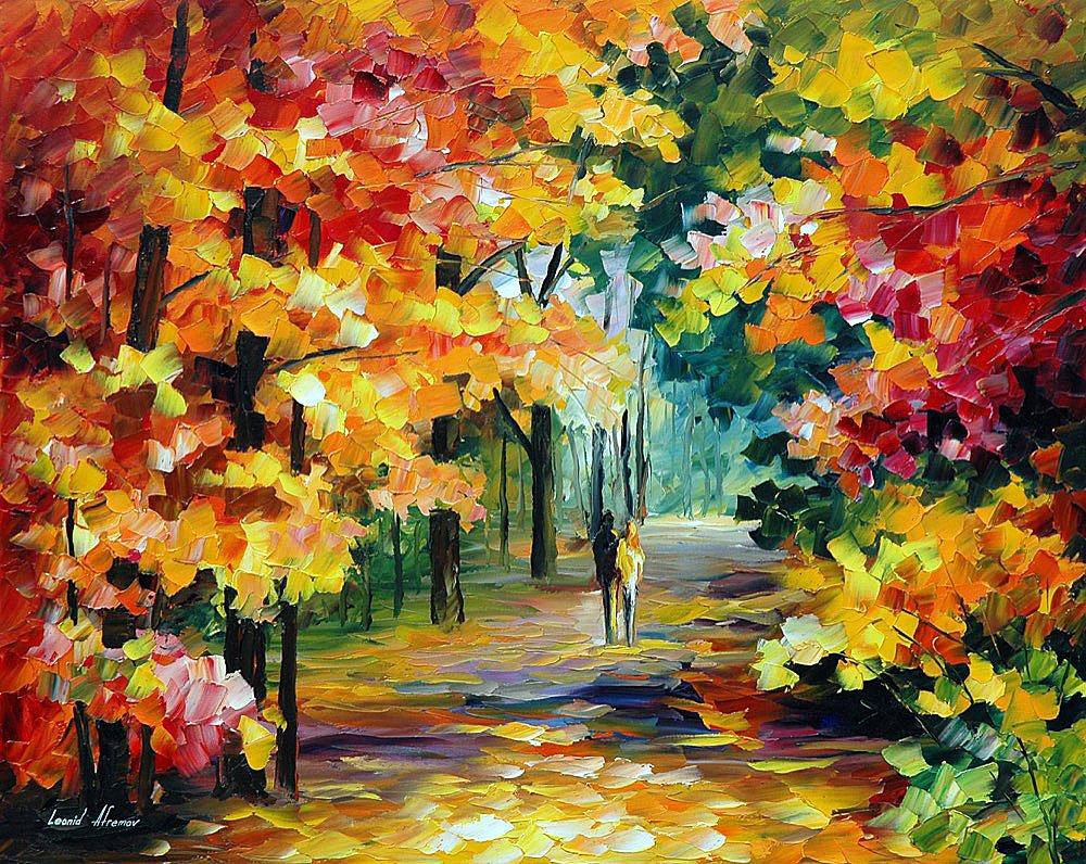 осенний пейзаж художник афремов картины фото рассвета заката