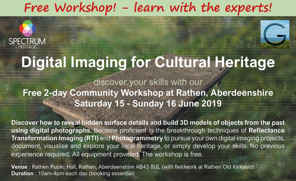 Join our fabulous free workshop with experts @SpectrumDH and discover your hidden digital imaging skills!📷🔍😎. Learn how to develop your own #DigitalHeritage projects & enjoy a bit of #Aberdeenshire fieldwork too! More here 👇 griegsocietyscotland.org/press-media thanks to @HeritageFundSCO