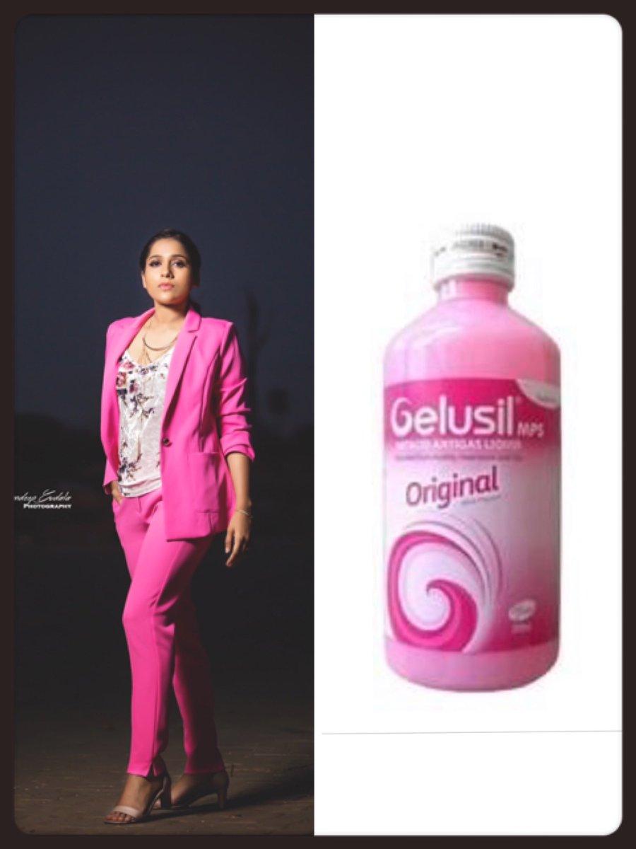 Image result for latest images of rashmi gautam trolls herself with gelusil bottle