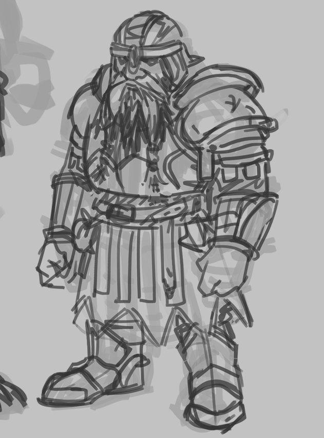 Warrior Sketch Art