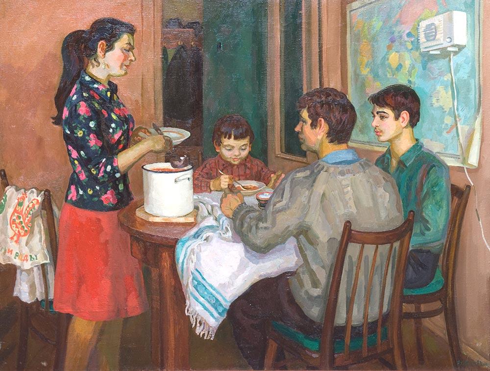Советская семья рисунки